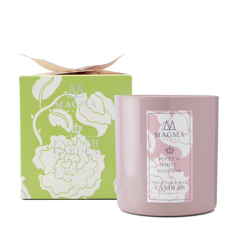 Poppy & White Blossom -Candle